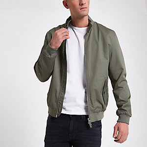 Green harrington jacket