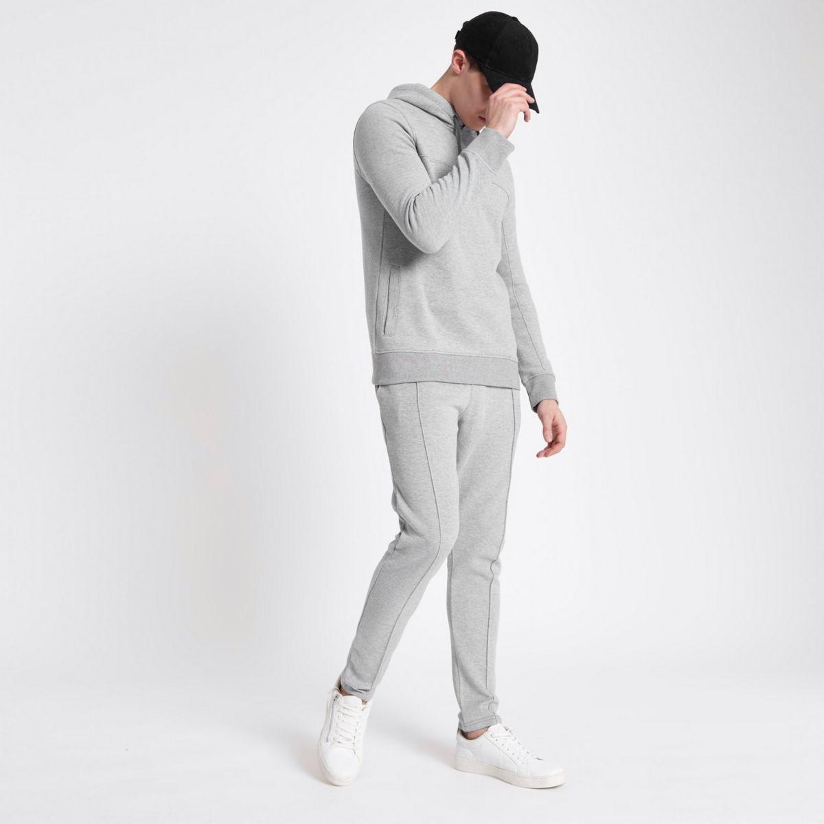 Grey pique joggers
