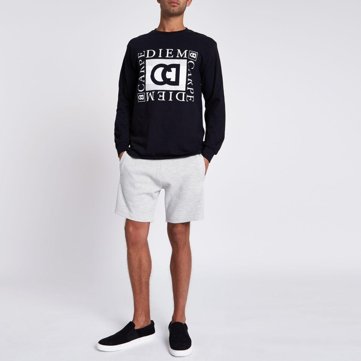 Light grey pique shorts