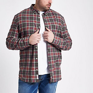 Big and Tall red check shirt