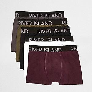 RI Big and Tall - Multipack rode strakke boxers