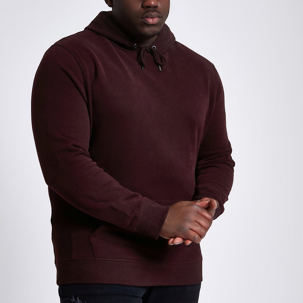 Big and Tall burgundy hoodie