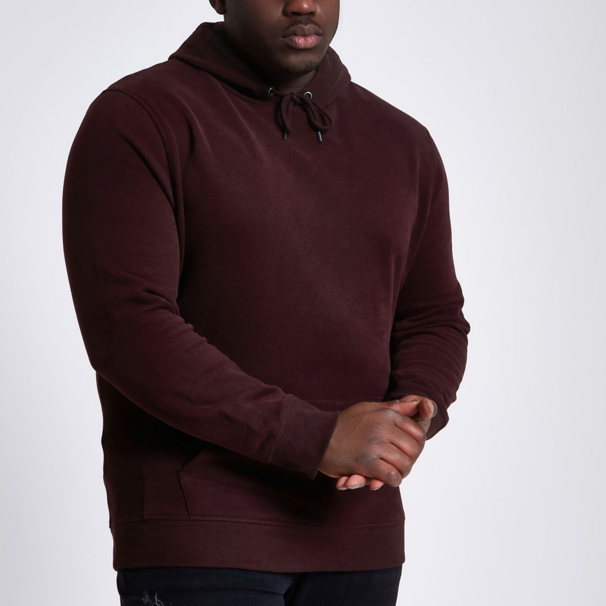 Big & Tall – Sweat à capuche bordeaux