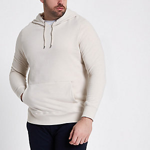 Big & Tall – Sweat à capuche grège