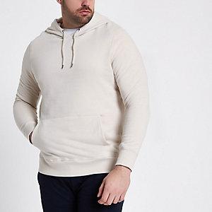 RI Big and Tall - Kiezelkleurige hoodie