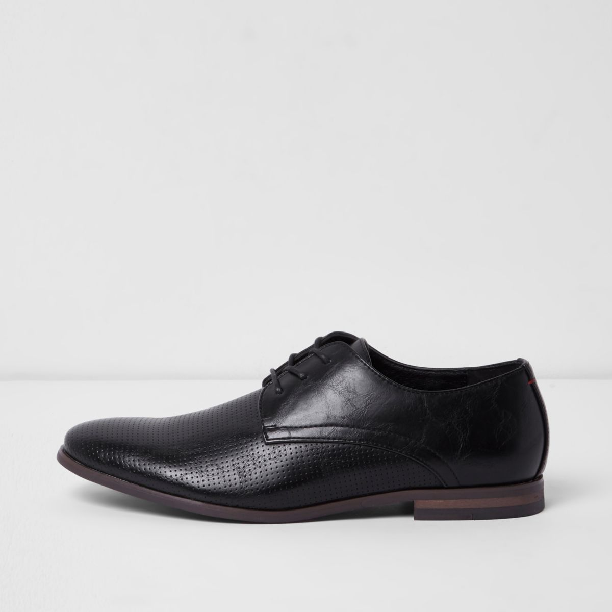 River Island Smart Lace Up Shoes In Black