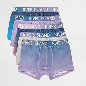 Multipack paarse hipsters met RI-logo op de tailleband