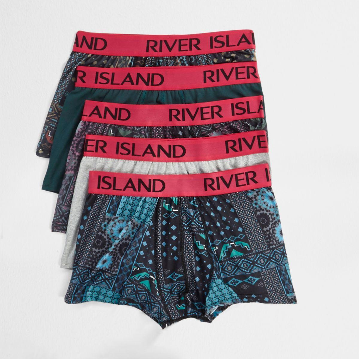 River Island Lot de boxers avec imprimé aztèque et élastique