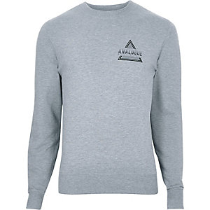 "Sweatshirt mit ""analogue""-Motiv"