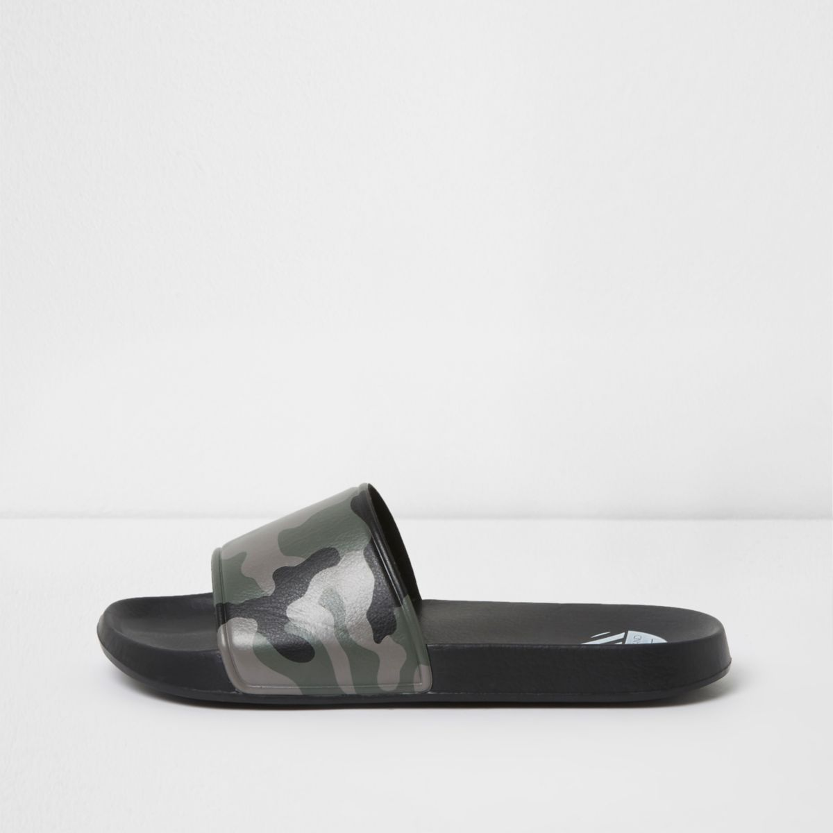 River Island Mens Grey elastic sandals