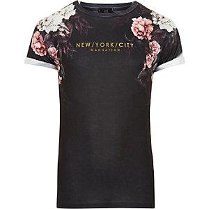 "Marineblaues Slim Fit T-Shirt ""New York"""