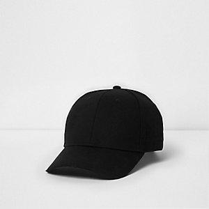 Zwarte baseballpet met geborduurde wesp