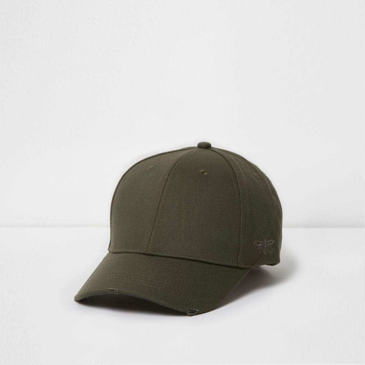 Green khaki wasp embroidered baseball cap