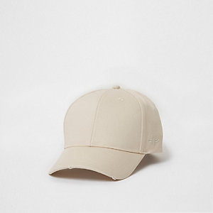 Cream wasp embroidered baseball cap