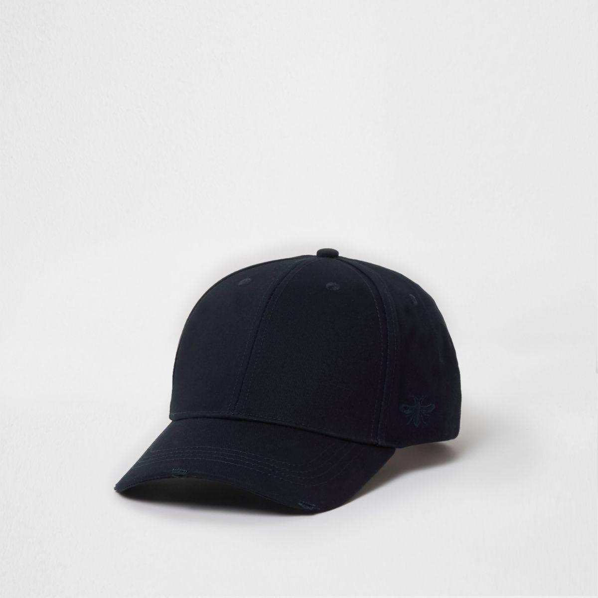 Navy wasp embroidered baseball cap
