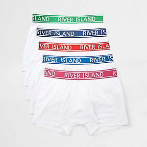 White colored RI waistband trunks multipack