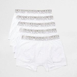 White RI branded waistband trunks multipack