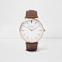 Brown Mr Beaumont round face watch