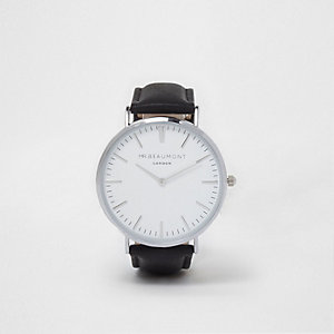 Black Mr Beaumont round face watch