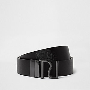 Black reversible RI buckle belt