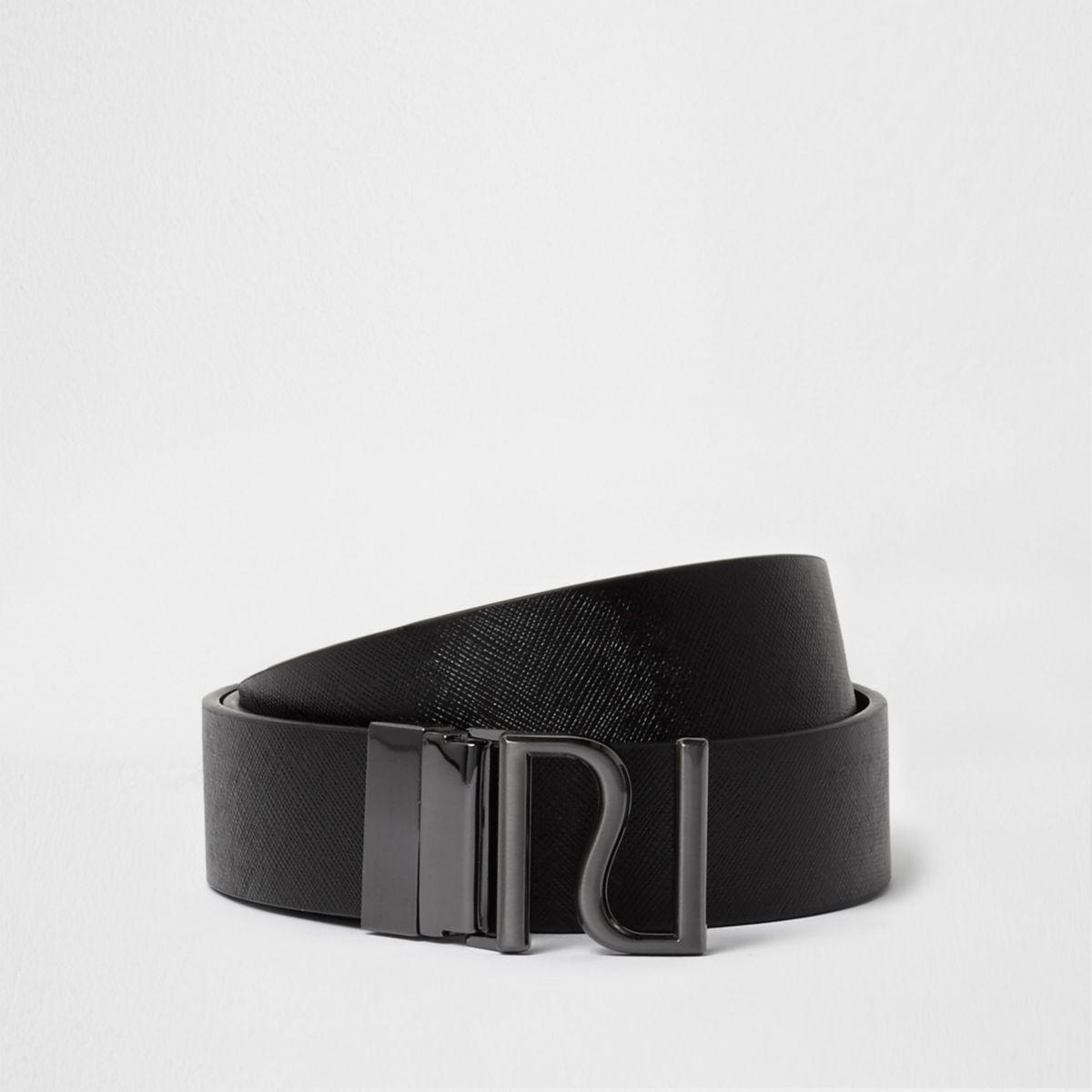 Black reversible RI buckle belt