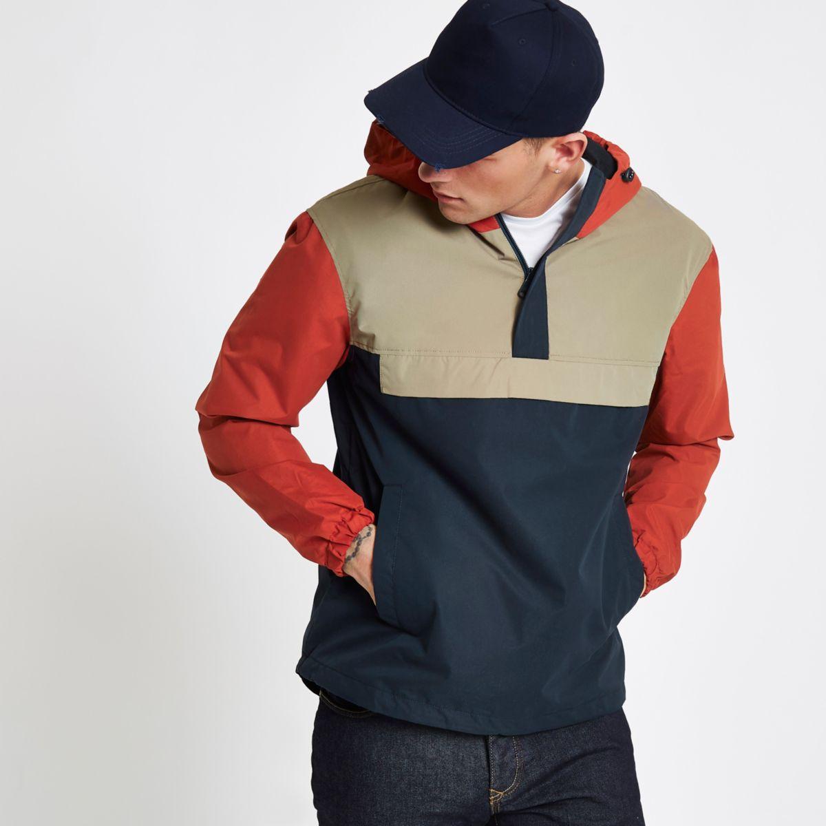 Jack & Jones Originals navy block jacket