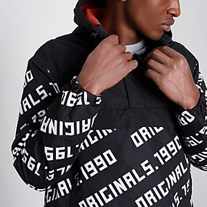 Black Jack & Jones '1990' print anorak jacket