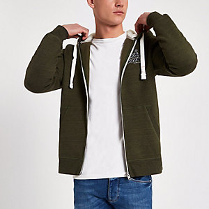 Jack & Jones Originals green khaki hoodie