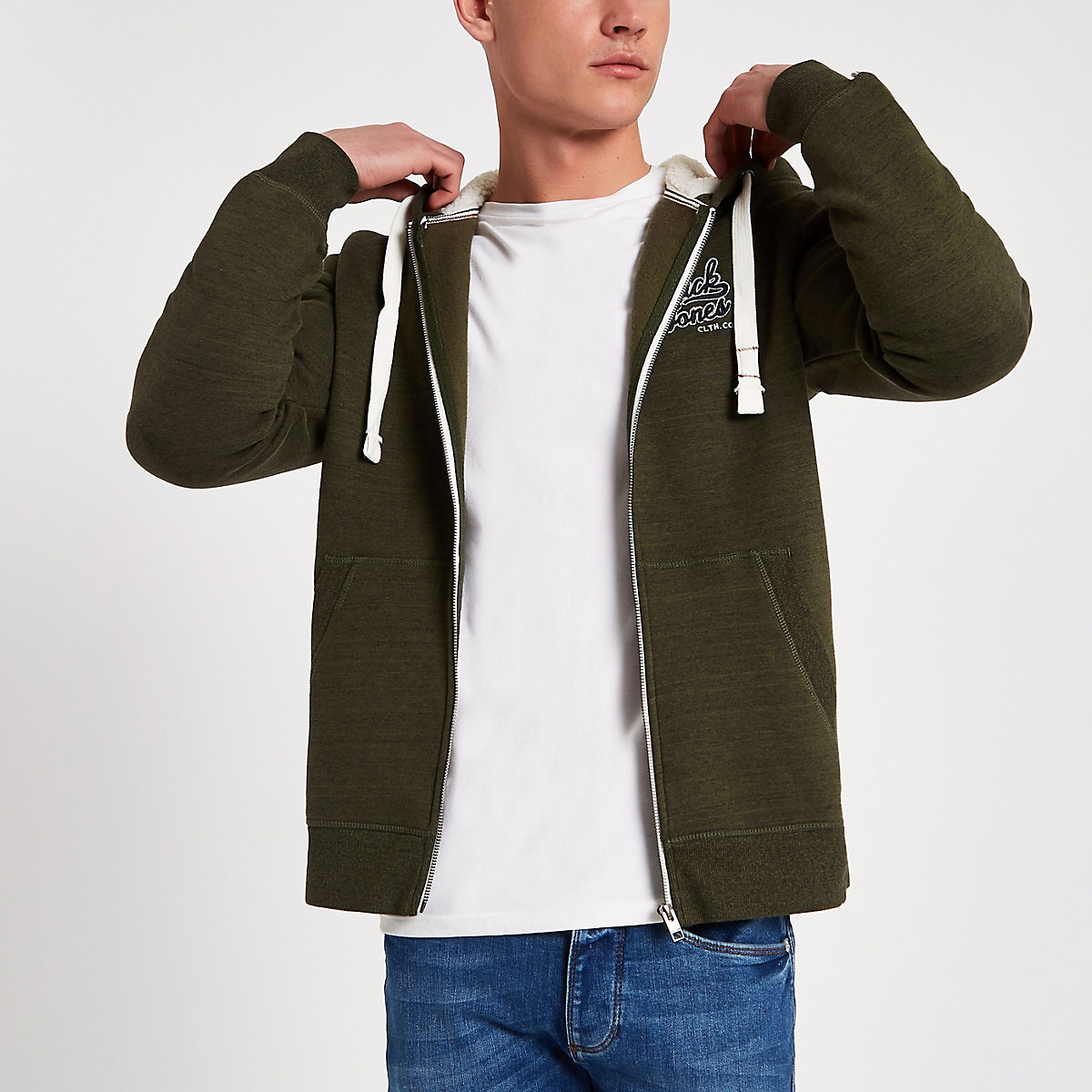 Jack & Jones Originals green khaki hoodie
