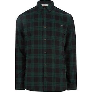 Jack & Jones - Chemise Originals à carreaux verte