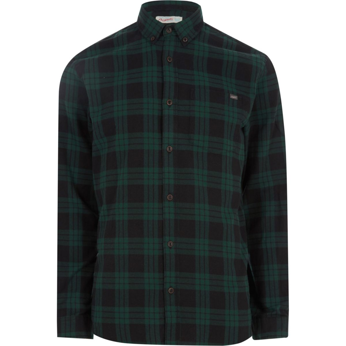 Jack & Jones Originals green check shirt