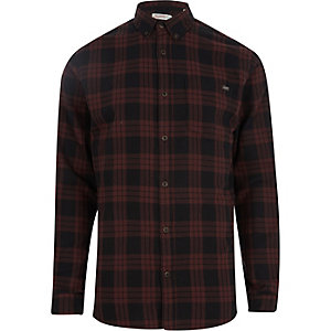 Jack & Jones - Chemise Originals à carreaux rouge