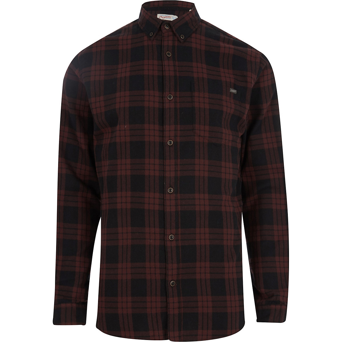 Jack & Jones Originals red check shirt