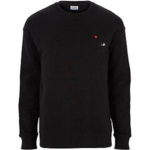 Jack & Jones – Schwarzes Snoopy Sweatshirt