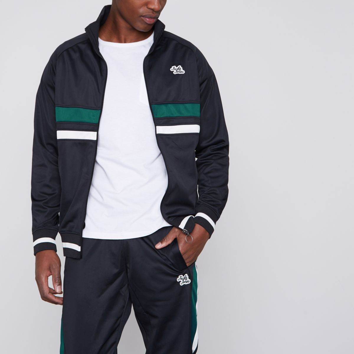 Black Jack & Jones funnel neck track jacket
