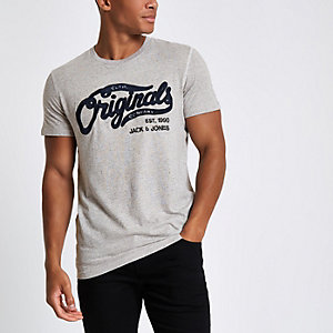 Grey Jack & Jones Originals T-shirt