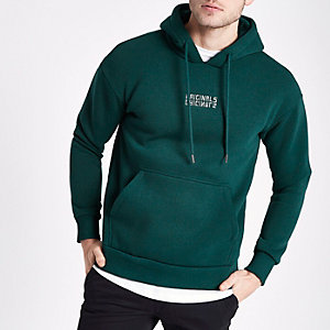 Jack & Jones Originals green hoodie