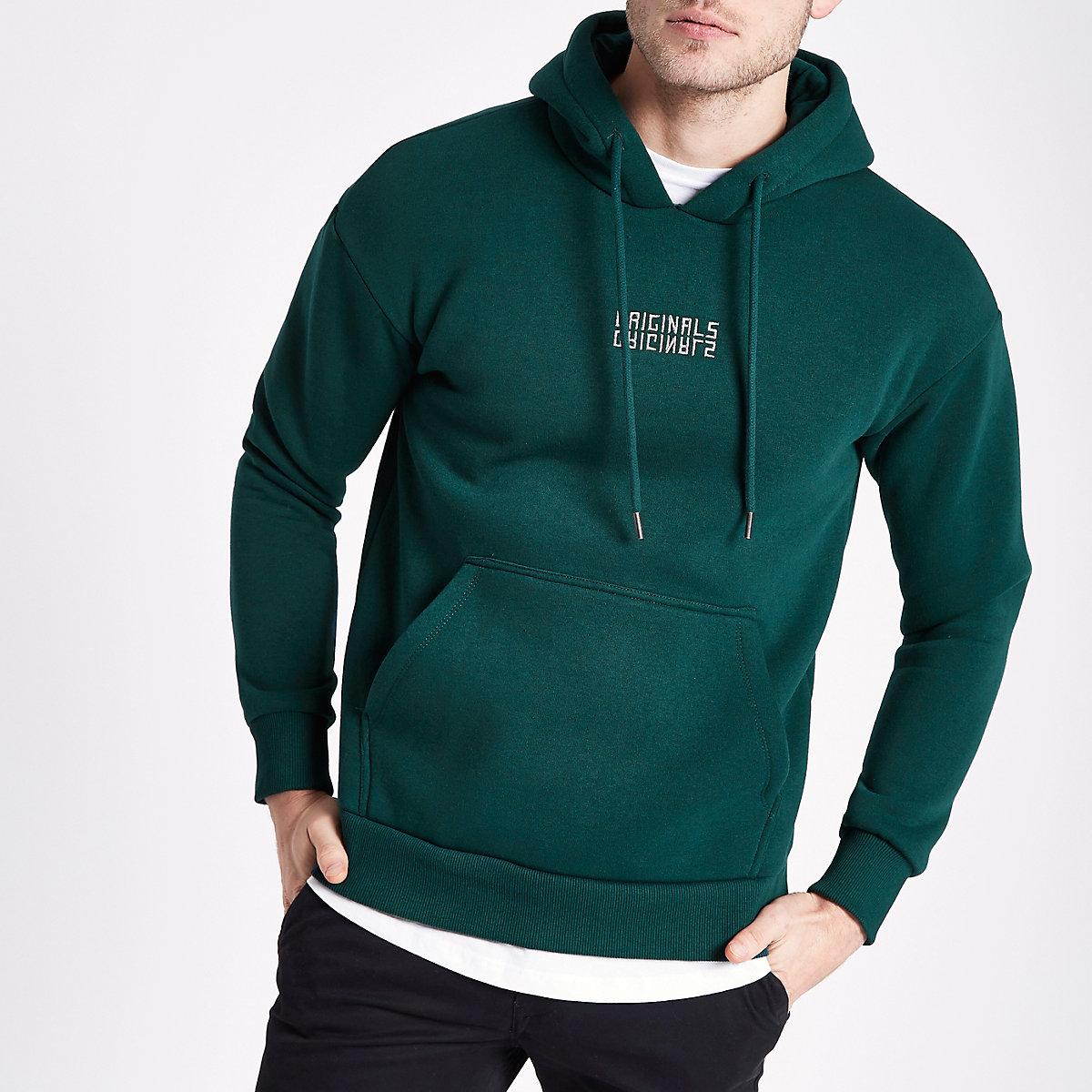 Jack & Jones Originals green hoodie