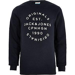 Jack & Jones Originals - Marineblauw overhemd met print