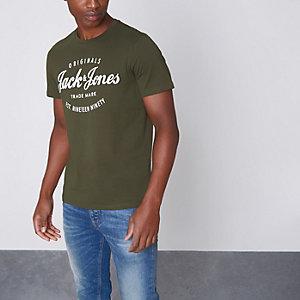 Dark green Jack & Jones Originals T-shirt