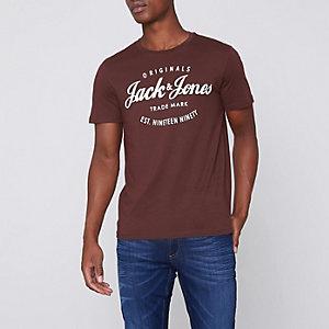 Jack & Jones Originals - Donkerrood T-shirt met print