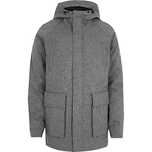 Grey Only & Sons melange parka