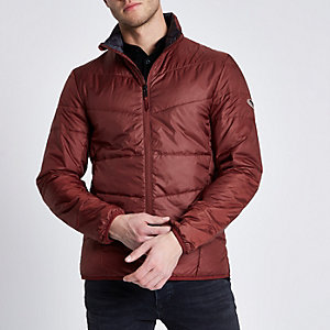 Only & Sons dark red puffer jacket