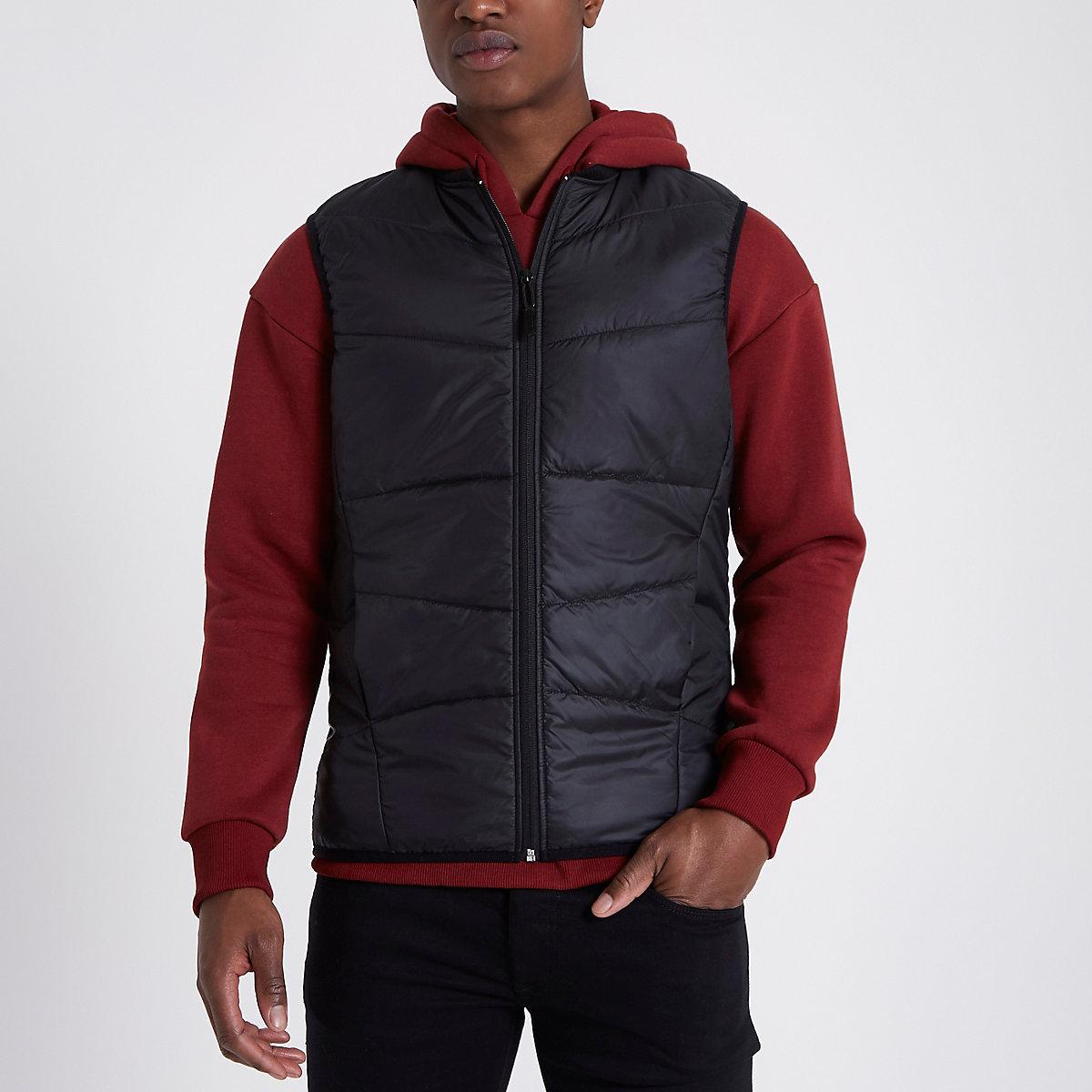 Only & Sons black padded vest
