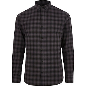 Grey Only & Sons check slim fit shirt