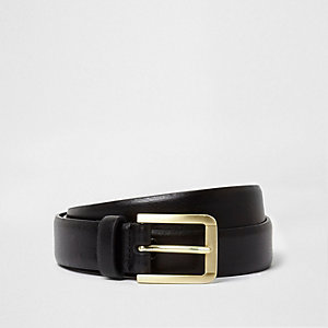 Black gold tone buckle belt