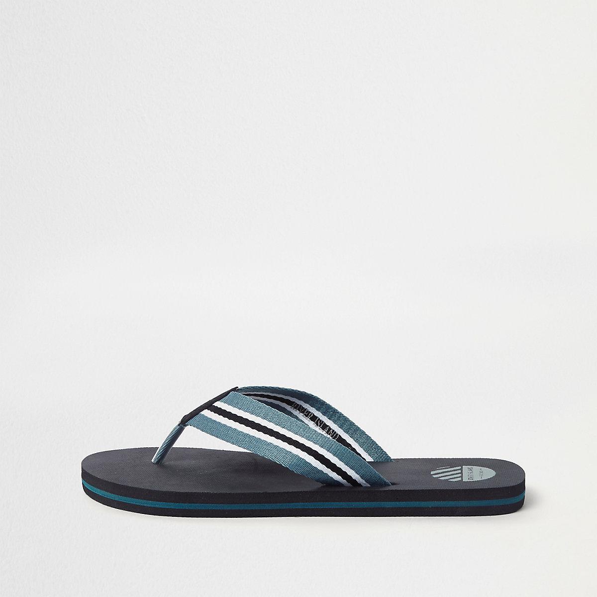 1c8919dbe Black stripe canvas flip flops - Sandals   Flip flops - Shoes   Boots - men