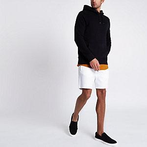 Witte piqué short