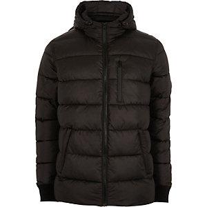 Doudoune noire à capuche