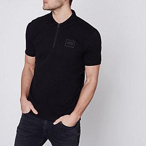 Black Jack & Jones Core zip polo shirt